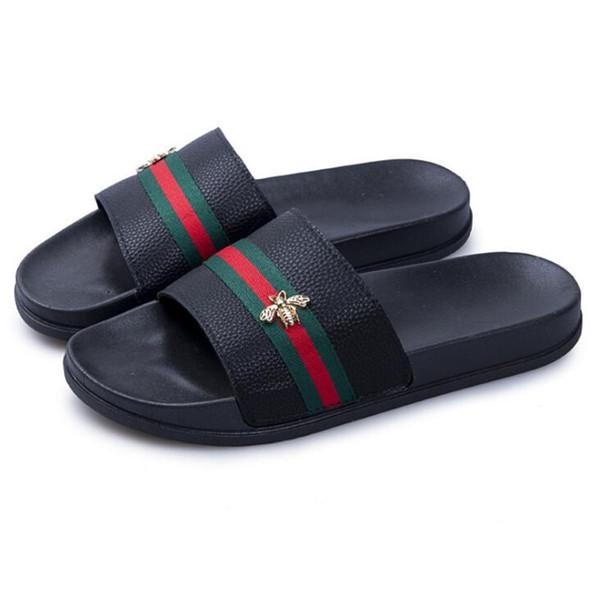 Zapatillas de playa al aire libre verano zapatos casuales masculinos accesorios de moda abeja Sipper hombres antideslizantes zapatillas de calidad para los amantes