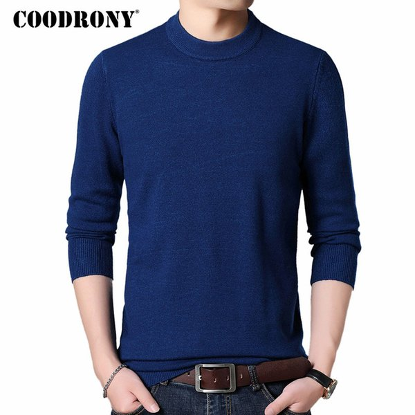 COODRONY Mens Sweaters 2018 Autumn Winter Thick Warm Pullover Men Cashmere Wool Sweater Men Casual O-Neck Jumper Pull Homme 8228 SH190930