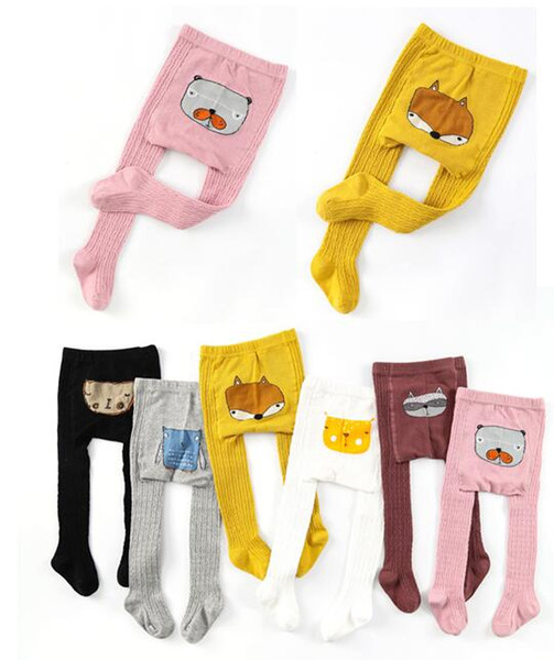 Girls Pantyhose baby tights baby fox stocking baby girl toddler tights pants underpants pantyhose girl fax pattern Knitted Stocking for 1~8Y