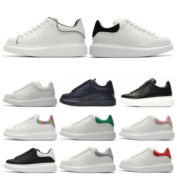 Designer ACE Black white Queens Brand Fashion leather men women casual shoes black gold red fashion comfortable flat sneaker size 36-45