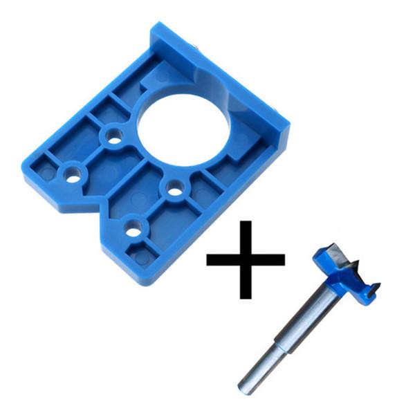35 mm précis bricolage trou ouvreur outil charnière Gabarit de perçage Guide Concealed Scie porte Cabinet Accessoires High Impact Montage Locator