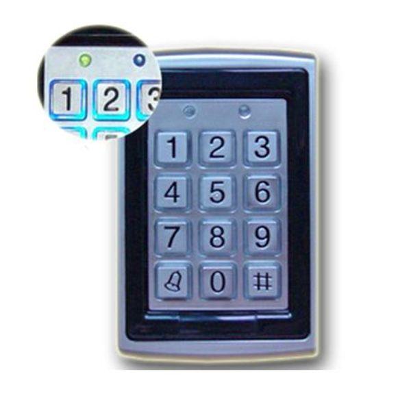 best selling Metal RFID Reader 125kHz Proximity Door Access Control Keypad 7612 Support 1000 Users Electric Digital Password Door Lock