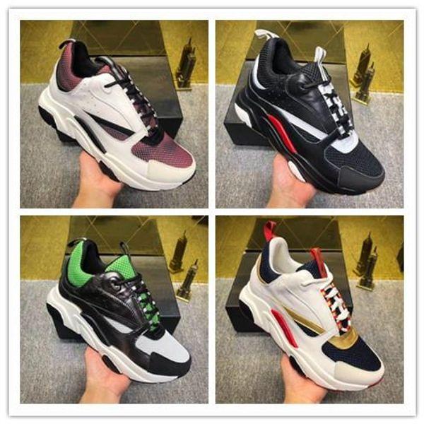 Avrupa'dan 2019 yeni 3D yansıtıcı tuval ve Dana derisi spor ayakkabıları Trendy moda spor B22 erkek teknik rahat ayakkabılar 0614