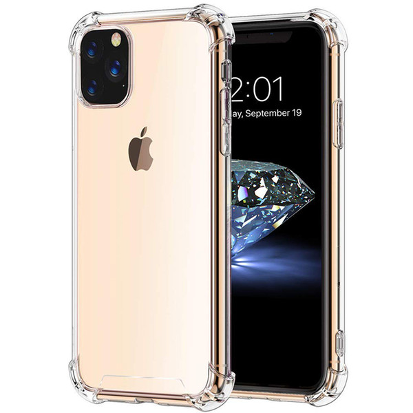 Air cu hion clear tran parent ultra oft tpu ilicone rubber cover ca e for iphone 11 pro max x xr x 8 7 6 6 plu 5 hockproof anti konck