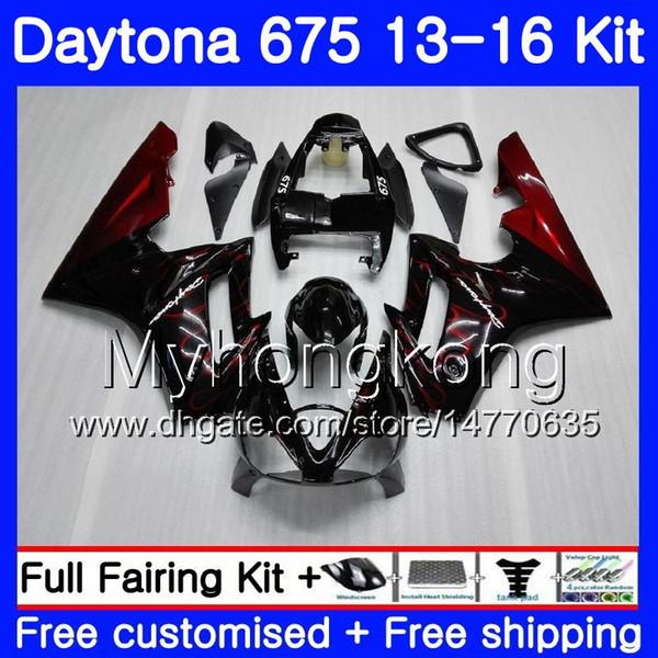 Body For Triumph Daytona-675 Daytona 675 13 14 15 16 Bodywork 328HM.3 Daytona675 Daytona 675 2013 2014 20 15 2016 Red flames stock Fairings