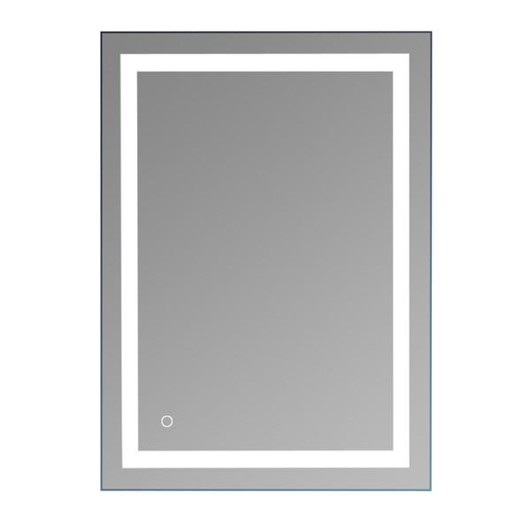O diodo emissor de luz espelhou o espelho de vaidade iluminado do diodo emissor de luz do espelho 28in X 20In Inclui a montagem de parede do dimmer e do defogger Vertical ou Horizontal Installa EUA