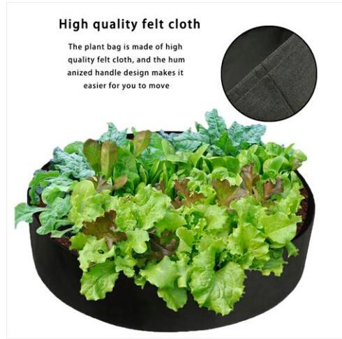 Hot sales 2019 Wholesales Free shipping 50 Gallons Fabric Raised Garden Bed Round Planting Container Grow Bags