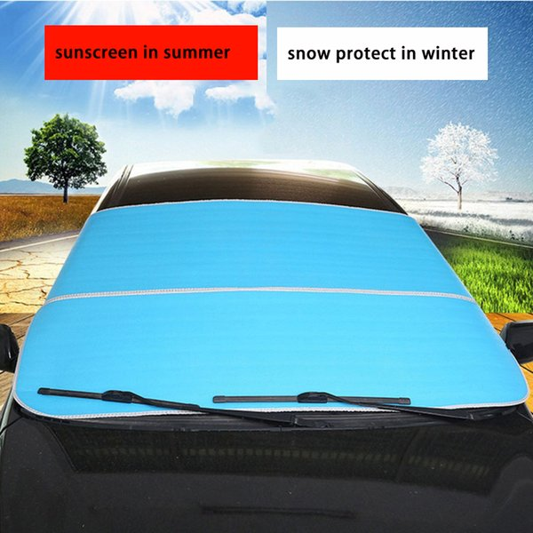 1 Adet Universal Araç Kar Buz Koruyucu Siperlik Oto Cam Güneşlik Çoklu Kullanım Araç Kapak Dış Aksesuar 200x95cm Kapaklar