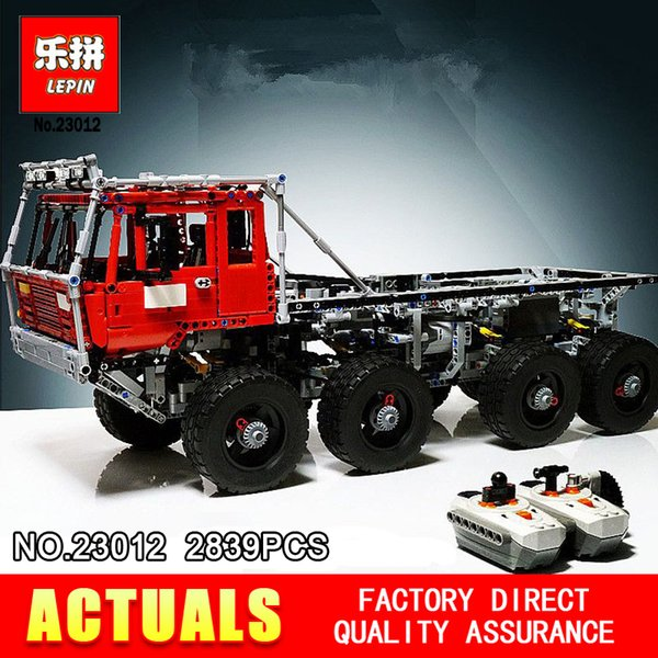 LEPIN 23012 Technology series 2839pcs vehicles car Model toy 813 Building blocks Bricks Equipped with 5 motors and 1 charging box