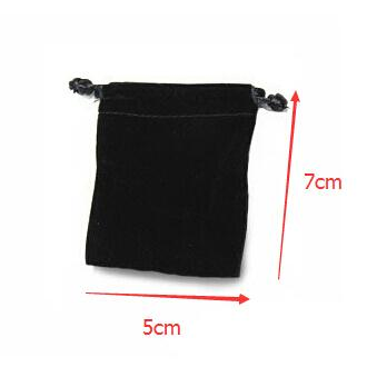 100pcs/lot Little Small Size 5x7cm Black/Rose/Red/Blue/Brown/Purple/Beige/Gray/Green Velvet Bags Drawstring Pouches Jewelry Bag