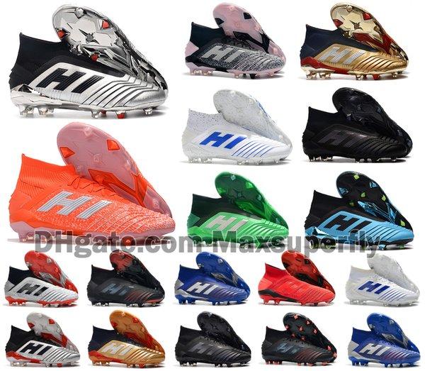 2019 Hot Predator 19+ 19,1 FG AG PP Paul Pogba 25. Jahrestag Goldene Herren Jungen Fußball-Fußball-Schuhe 19 + x Klampen Boots Günstige Größe 39-45