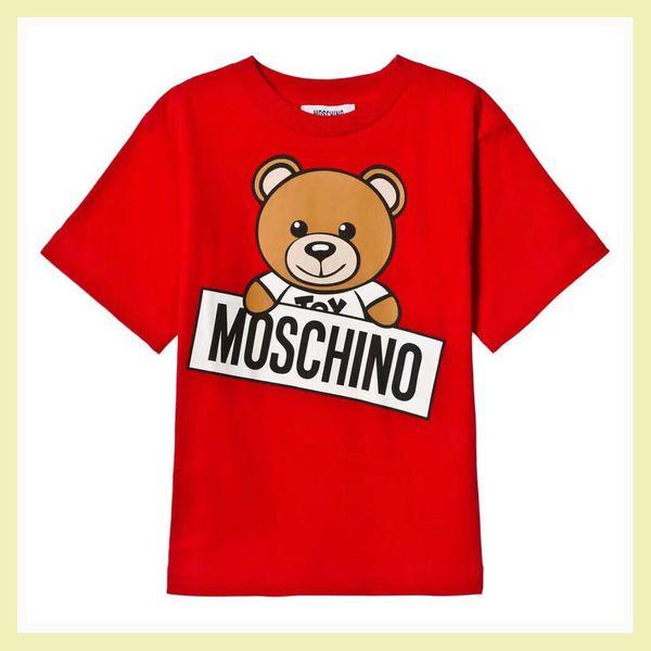 Magliette per bambini di design 2019 Vendita calda di marca Lettera Stampa Orso Modello Lusso Bambino Top Tee Estate Moda Abbigliamento Boy Girl Designer Tshirt