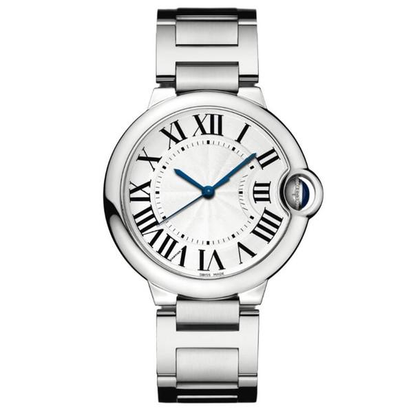2019 Belle bonne nouvelle horloge de luxe en argent de mode montre hommes en acier inoxydable femmes montre-bracelet amateurs de montres unisexe horloge whosale dropshipping