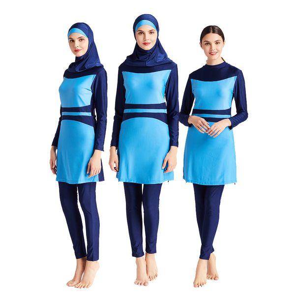 MB-M091 femmes manches longues Costume Set Ramadan piscine protection contre le soleil Maillots de bain islamique Burkinis arabe musulman Swimsuit