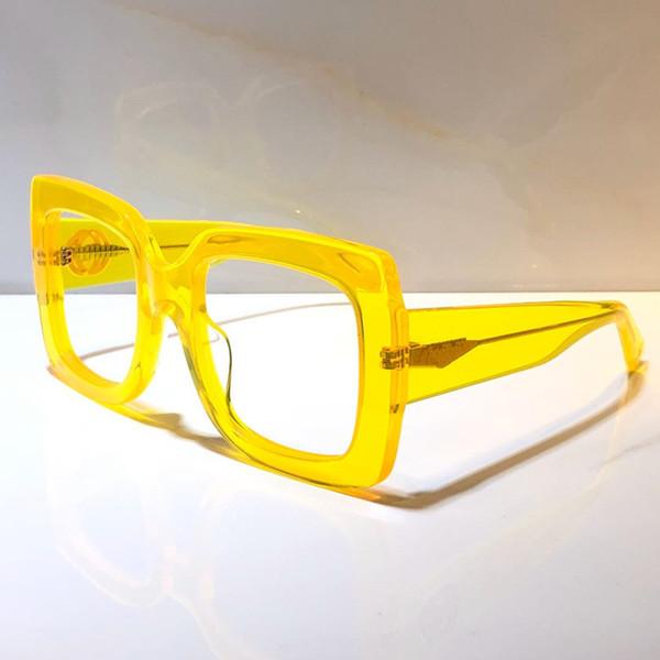 желтый прозрачная линза