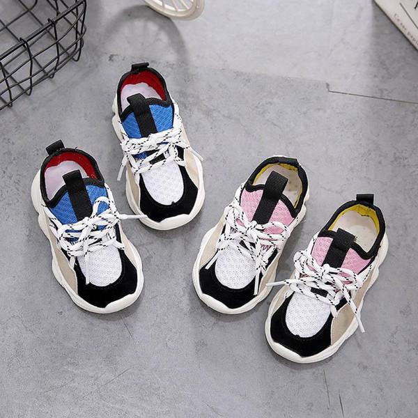 Çocuklar rahat yürümeye başlayan ayakkabı chaussures çocuklar yürümeye başlayan kız ayakkabı tasarımcısı erkek eğitmenler kızlar eğitmenler perakende sneakers Enfants ayakkabı