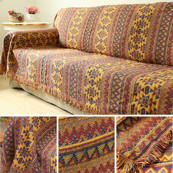 Amazing Bohemian Chenille Towel Blanket For Couch Sofa Decorative Slipcover Throws Plaid Rectangular Boho Stitching Travel Plane Blanket Navy Blanket Throw Forskolin Free Trial Chair Design Images Forskolin Free Trialorg