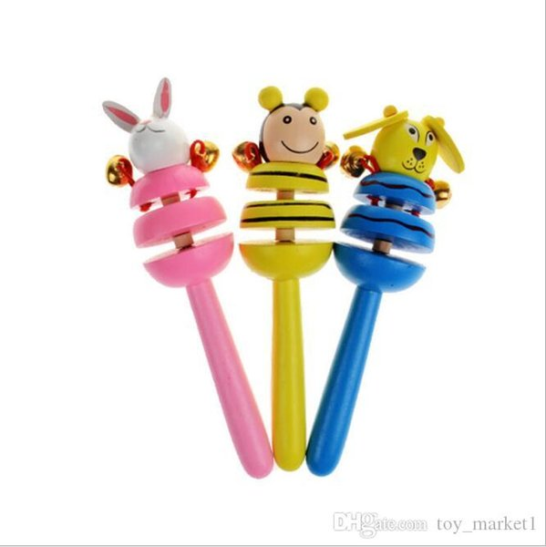 Handbell Early Education Puzzle Toys Colorful Cute Animal Rattles Newborn Toy Many Styles 1 95sw C R