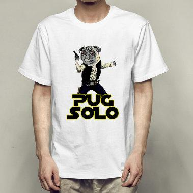 Solo t shirt Cool pug short sleeve gown Dog singer tees Fastness printing clothing Quality modal Tshirt