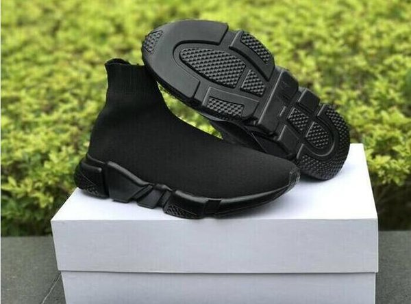 vsee luxury women mens ankle boots Red Grey Triple Black White Stretch Mesh High Sneaker Speed Trainer Runner fashionals