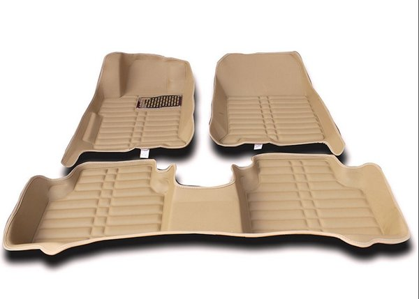 For Ford Fiesta 2009-2016 Car Floor Mats Front & Rear Liner Accessories Non-slip waterproof leather Carpets Auto Luxury sedan Pads