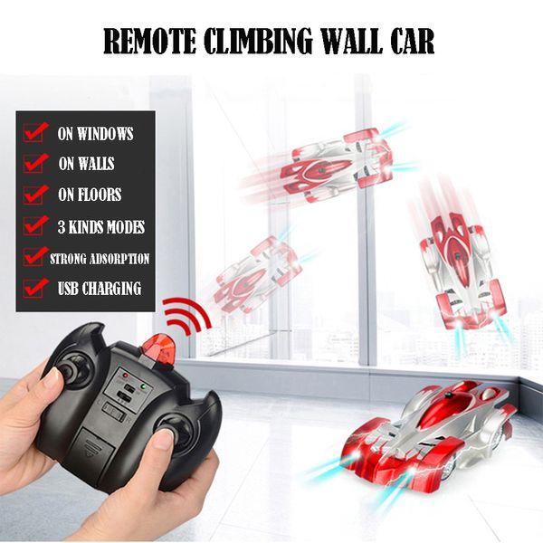 RC Auto Climbing Climatizzazione per auto a soffitto a gravità antiriflesso Luci LED automatiche per auto da 360 gradi