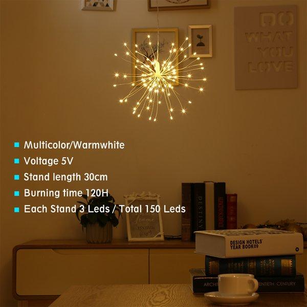 LED Yıldız patlaması dize ışık