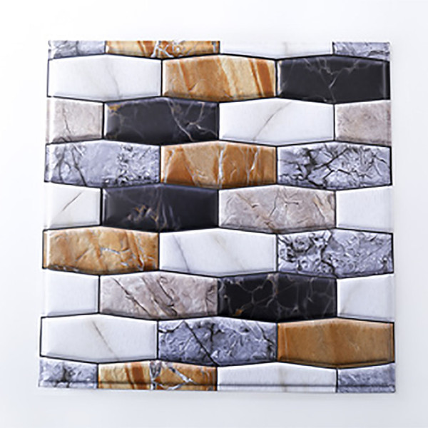 Self Adhesive Wall Tile Peel and Stick Backsplash for Kitchen Marble Wallpaper (6 Pack)