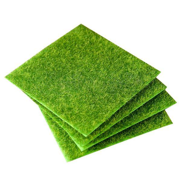 Moss gazon artificiel décoratif Lifelike pelouse Herbe miniature Ornement Paysage Micro pour Courtyard Garden Lawn