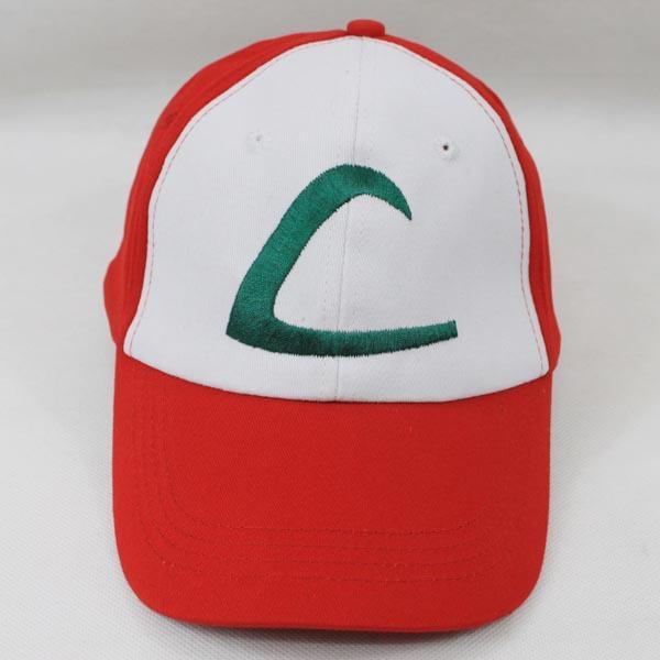 Cappello da allenatore per cosplay Ash Ketchum Party - Fantastico accessorio per berretto da baseball - Unisex Taglia unica Snapback più regolabile con Stitchi ricamati