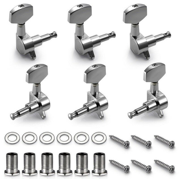 6R Right 6L Left 3L+3R String Tuning Pegs Tuners Tuner Chrome Inline Guitar Machine Head 6R Right Tool Parts CCA11756 110lot