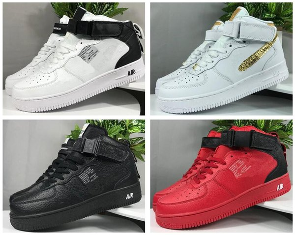 Forces Cheap 1 Utility Classic Black White Dunk Men Women running shoes red one Sports Skateboarding High Low Cut Wheat Trainers Sneakers