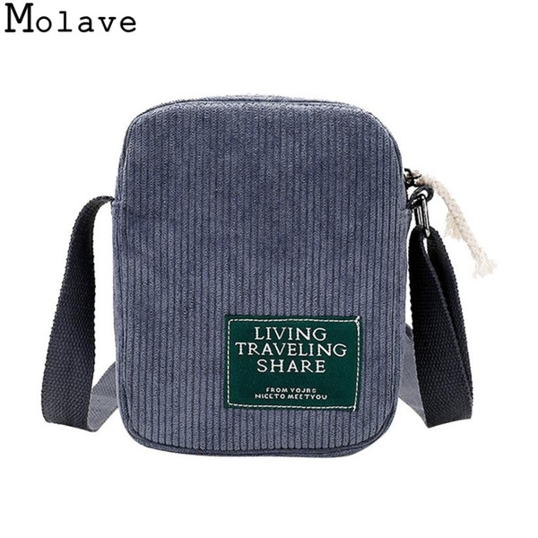 Cheap Molave Fabre Message Bags New Fashion Women Pure Color Corduroy Female Bag Female Phone Bag Shoulder Bag feminina 24August.12