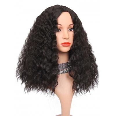 Long Center Parting Corn Hot Wavy Synthetic Wig Loose Curly Lace Frontal Synthetic Hair Wig Full Wig Human Hair Corn Wave Wigs for Women BB