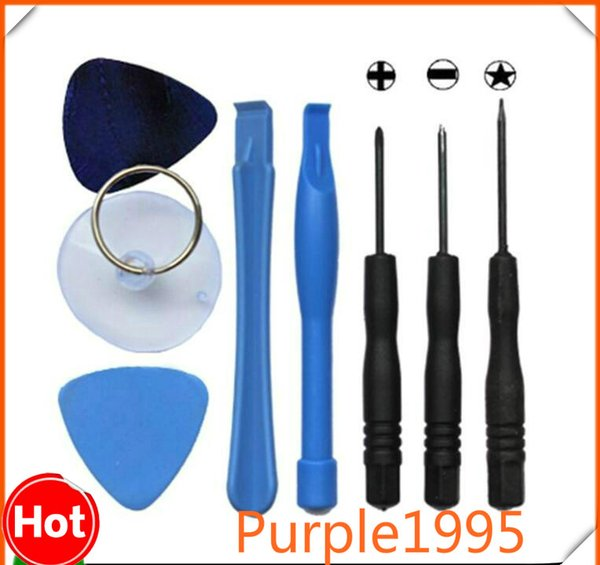 Cell Phone Reparing tools 8 in 1 Repair Pry Kit Opening Tools Pentalobe Torx Slotted screwdriver For Apple iPhone Android moblie phone