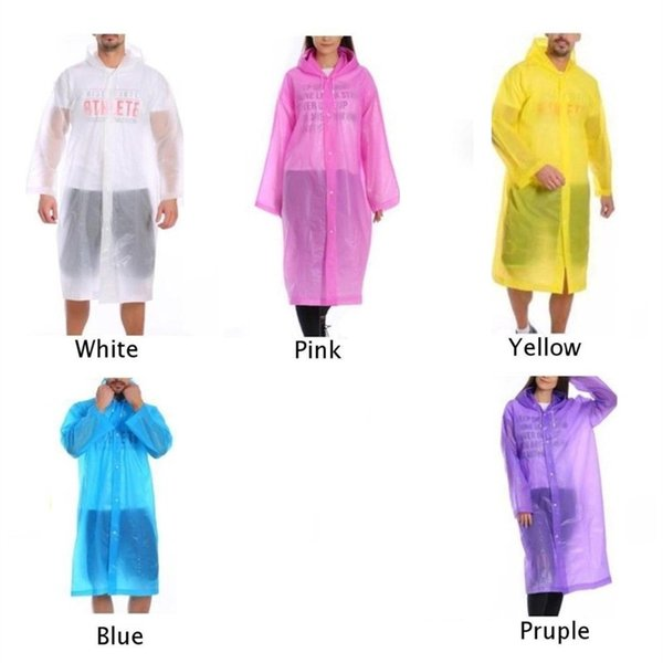 Men Women Adult Child Raincoat EVA Hooded Rain Clothes Covers Waterproof Rain Coat Transparent Rainwear Suit Jacket #319601