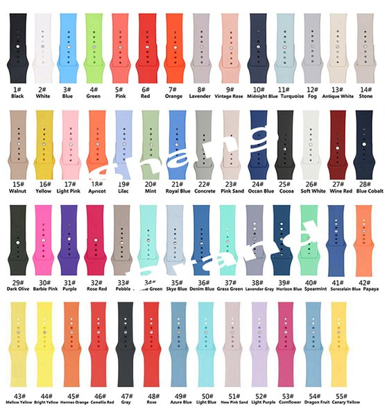 top popular Silicone Sport Watchband Replacement Watch Strap For Apple Watch 4 3 2 1 Band Wrist Strap With Adapters Accessories Vs Fitbit 2019