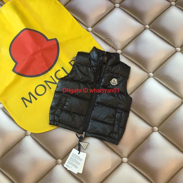 Children down jacket vest kids designer clothing winter boys and girls high density waterproof fabric down jacket vest