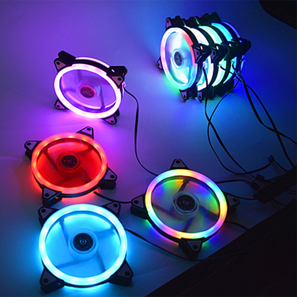 Adjustable Computer Cooling Fan 120mm Fan PC Case CoolerCase Glare Red Blue Green White Cooler Fans for Computer Cooler RGB