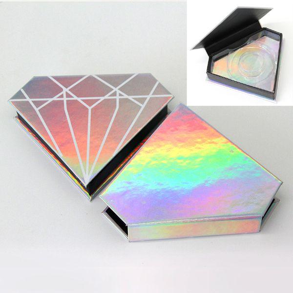 20 stücke großhandel falsche wimpern verpackung box benutzerdefinierte logo gefälschte 3d nerz wimpern boxen faux cils streifen diamant magnetischen fall leer