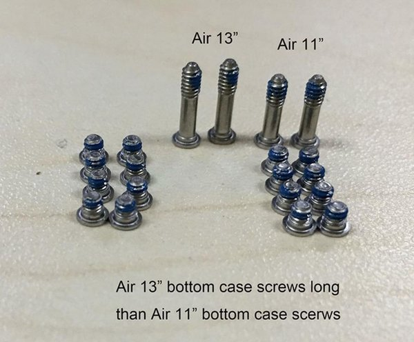 Air 11'' A1370 A1465 bottom screws