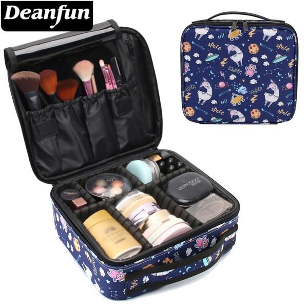 Deanfun Trousse De Maquillage Galaxy Llama Étanche Organisateur Sac Alpaga Organisateur De Voyage Cosmétique Train Cas Dropshipping 16007