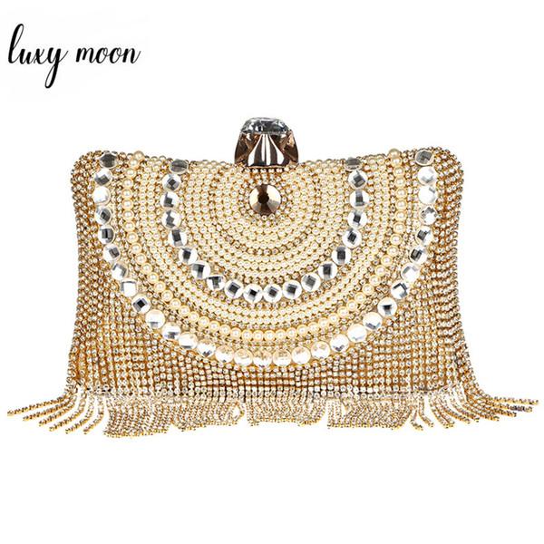 Luxury Rhinestone Crystal Women Clutch Bags Fashion Tassels Evening Bags Banquet Clutches Purse Party Chain Handbag For Ladies
