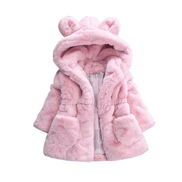 Girls Jacket 2019 Autumn Winter Jacket For Girls Fur Coat Baby Kids Warm Hooded Outerwear Coat For Clothes Children