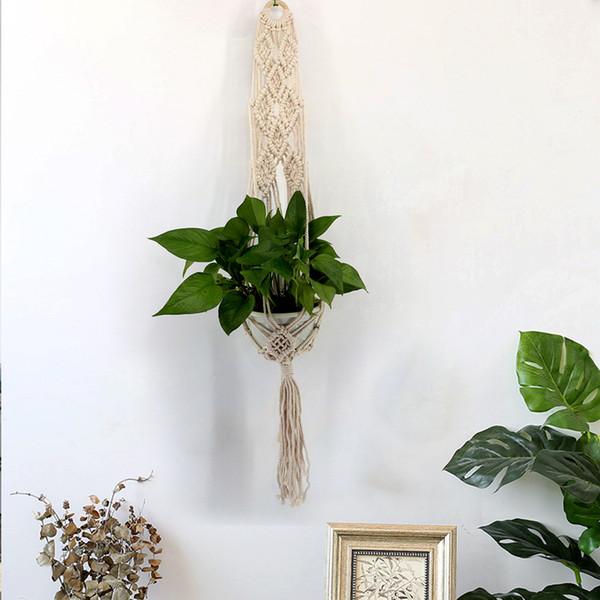 Plants Hanger Basket Simple Wall Decorate Network Botany Hanging Flower Handmade Organization Pot Decoration Pendant Soft Feel