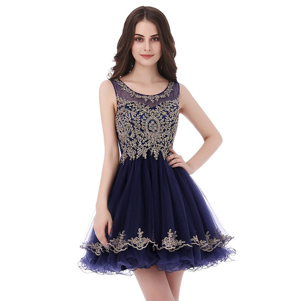 best selling Homecoming Dresses Occasion Dress With Beads and Appliques Short Cheap Cocktail Party Prom Gowns Real Image LX327