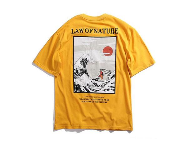 Brand Mens Designer T Shirt Japanese Ukiyo Cat Printed Short Sleeve Swag Tshirt Hip Hop Oversize Boyfriend Tee Streetwear