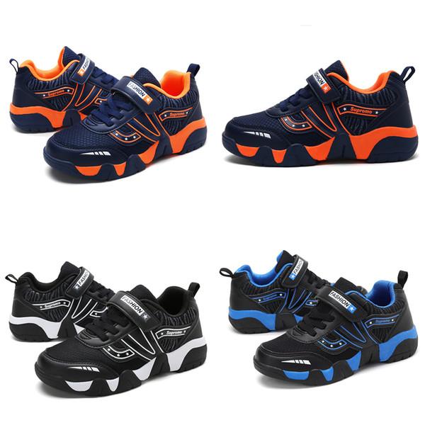 Hot Sale Fashion Designer Criança Sneaker Tênis de Corrida de Couro PRETO Criança Ao Ar Livre Clássico Casual Sapatos de Basquete Esporte Tamanho 30-40