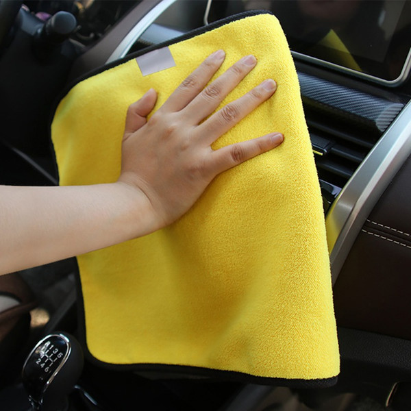 Car Care Wax Polishing Towels Thick Plush Microfiber Car Cleaning Cloths microfiber double-dimensional velvet washing towel New