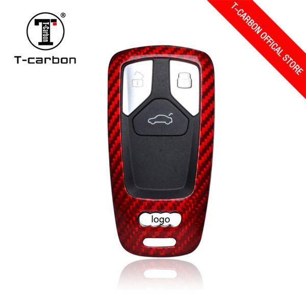 2019 High Qualty 3K 240G top quality all real carbon fiber car key case cover frame for Audi A4 A4L A5 TT S5 Q7 original design Factory